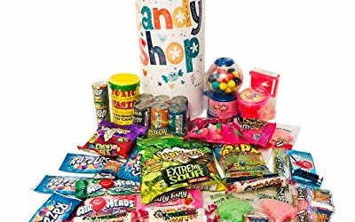 Childrens Celebration Gift Tower Assortment – Toxic Waste, Warheads Extreme, Laffy Taffy, Airheads, Belts, Sour Flush Candy, Nuclear Fusion, Bubble Gum Dispenser, Smarties