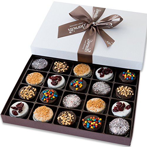 Barnett's Holiday Gift Basket – Elegant Chocolate Covered Sandwich Cookies Gift Box – Unique Gourmet Food Gifts Idea For Men, Women, Birthday, Corporate, Mothers Day or Valentines Baskets for Her
