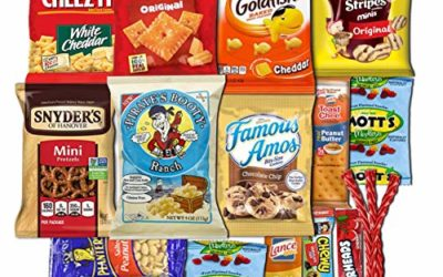 Sweet Choice (20 Count) Ultimate Sampler snack box Mixed Bars, Cookies, Chips, Candy Snacks Box for Office, Meetings, Schools,Friends & Family, Military,College, Snack Variety Pack, gift basket