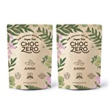 ChocZero's Keto Bark, Dark Chocolate Almonds with Sea Salt. Sugar Free, Low Carb. No Sugar Alcohols, No Artificial Sweeteners, All Natural, Non-GMO (2 bags, 6 servings/each)