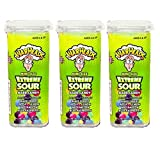 Warheads Extreme Sour Hard Candy Mini Size Flip Open Top – Pack Of 3