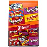 STARBURST, SKITTLES & LIFE SAVERS Gummies Halloween Candy Fun Size (315 Count) Variety Mix