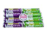 Regal Crown Candy Rolls Assortment – Sour Apple & Sour Grape 4 Rolls of Each Flavor with Refrigerator Magnet