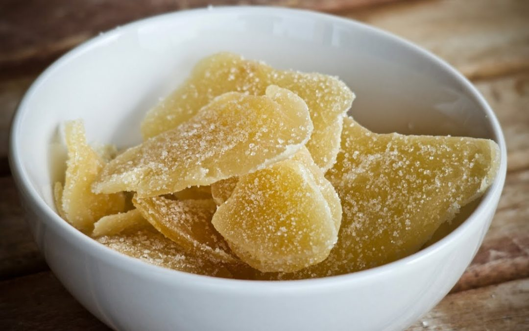 Ginger Candy (Candied Ginger Recipe): How to make Homemade Ginger Candy for nausea & cough