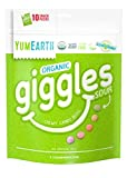 YumEarth Organic Giggles Chewy Candy, Sour Flavored, 10 Snack Packs per bag – Allergy Friendly, Non GMO, Gluten Free, Vegan