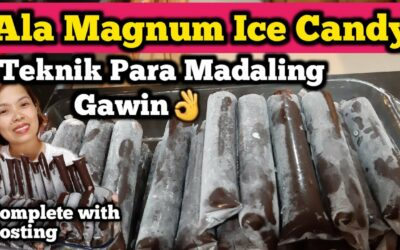 Chocolate Covered Vanilla Ice Candy AlA Magnum Complete With Costing