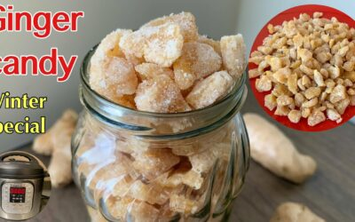 Instant pot Ginger Candy Recipe | Candied Ginger Recipe | Ginger Candy | How To Make Candied Ginger